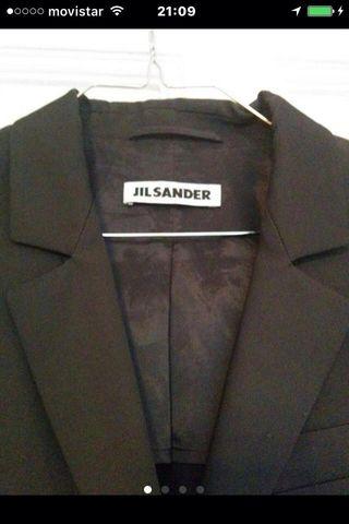 JIL SANDER, Azul Marino, 34 ORIGINAL. Americana.