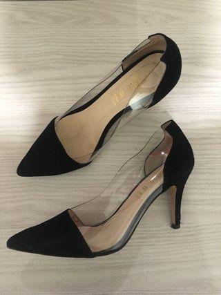 zapatos de tacón aguja de segunda mano en getafe en wallapop