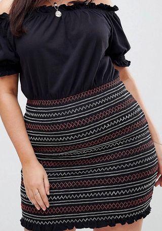 ASOS Curve Black Off Shoulder Dress