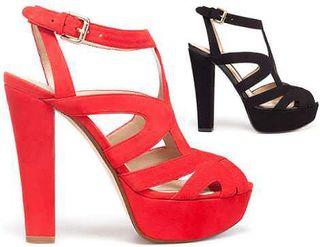 Tacones rojos Zara 40