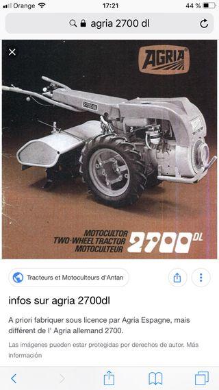 Tractor motocultor