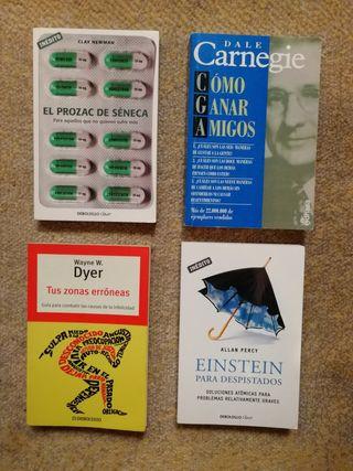 Varios libros de autoayuda