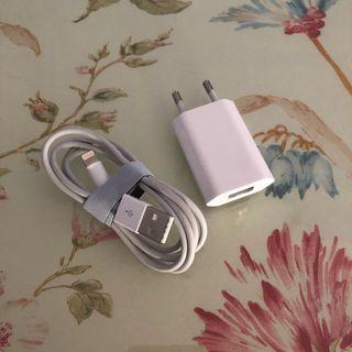 Cargador y cable lightning apple originales
