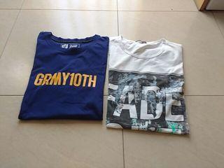 2 camisetas de hombre