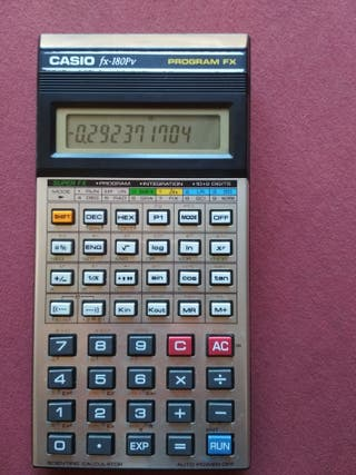 CASIO FX-180PV FX PROGRAM