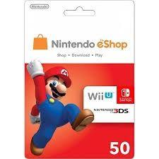 3DS ESHOP CARD NINTENDO