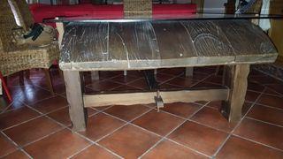 mesa madera ( trilla de madera)