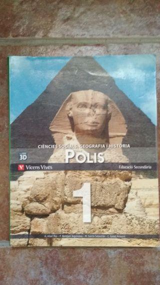 Llibre Ciències Socials, Geografia i Història 1 ES