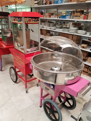 maquina algodón de azúcar ,palomiteras ,gofreras