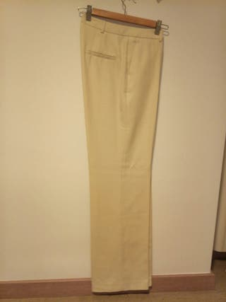 Pantalón vestir crema La Redoute talla 38/40