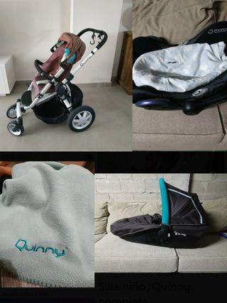 +REGALO. Carro bebe, Silla niño, Quinny, completa.