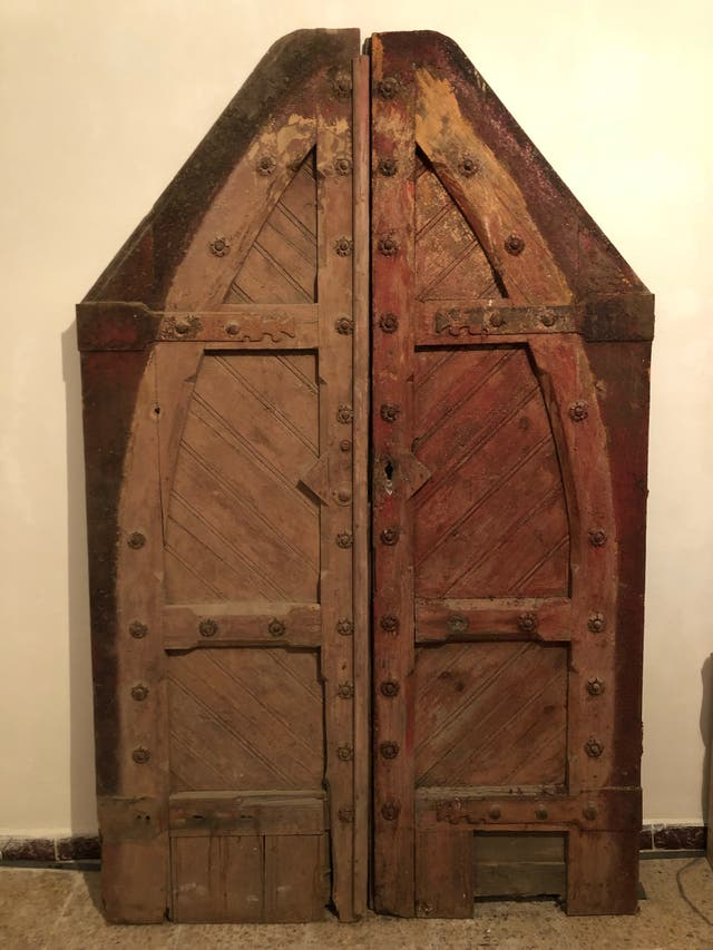 Puerta de madera antigua de segunda mano por 300 en - Puerta madera antigua ...