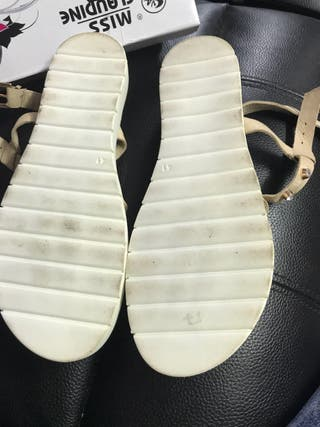 Stunning beaded cream sandals