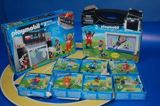 Lote Playmobil-FUTBOL-9 cajas-11 figuras