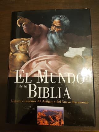 Libro gran formato el mundo de la biblia