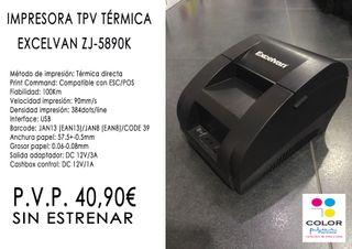 IMPRESORA TPV TÉRMICA EXCELVAN ZJ-5890K