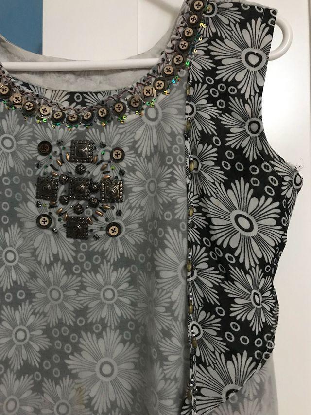 Stunning ethnically embroidered designer suit