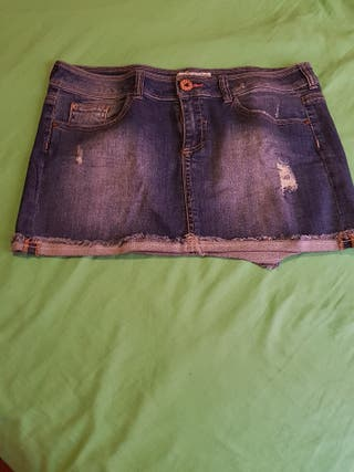 Minifalda tejana Berska,talla 42