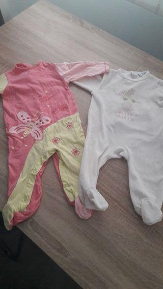 lote de 2 pijamas talla 6 meses