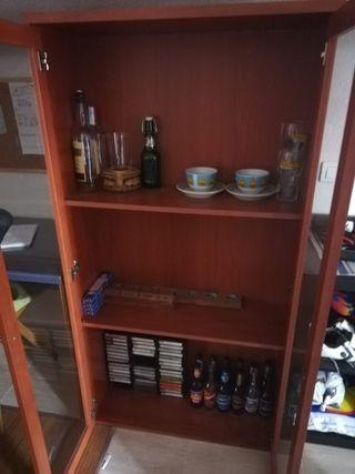 estantería, librería, mueble.