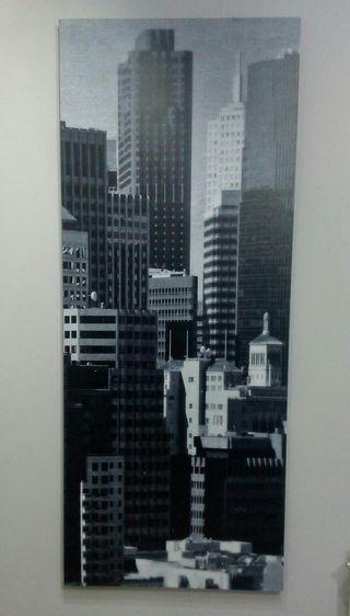 Cuadro rascacielos b/n