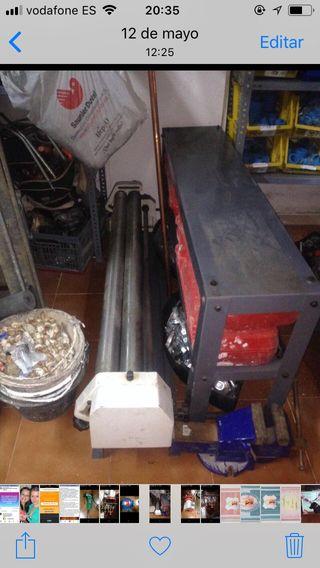 Cilindro para hacer tubos de chapa manual