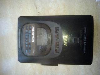Walkman.Radiocasete portatil estereo recargable.
