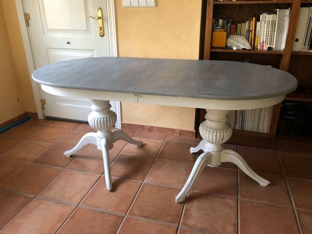 Mesa comedor antigua clásica vieja restaurada de segunda mano por 60 ...