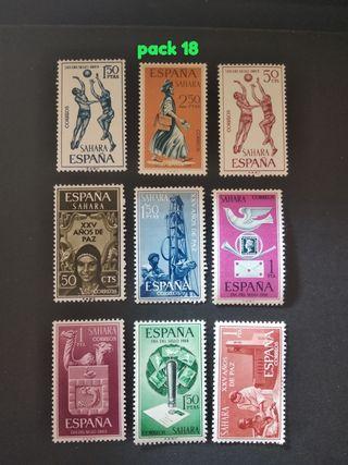 lote 9 sellos de España del 1965/68