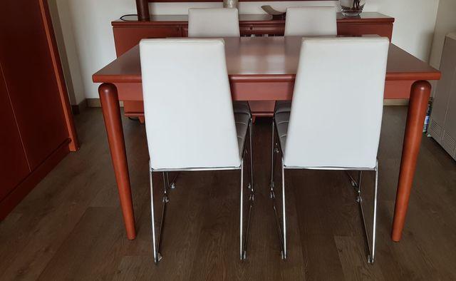 4 sillas comedor, blancas de segunda mano por 85 € en Martorell en ...