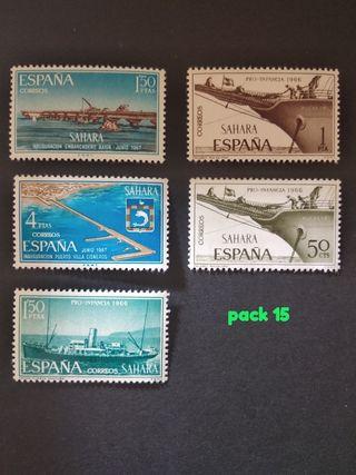 lote 5 sellos 1966