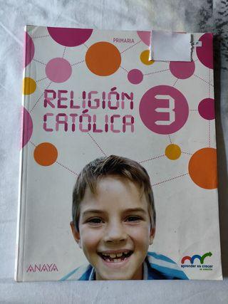 Libro religión, Anaya 3 primaria.