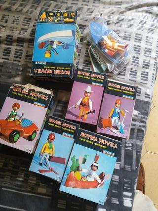 Cajas tipo playmobil años 70 nuevo