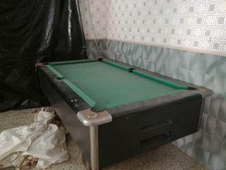 mesa de billar antigua