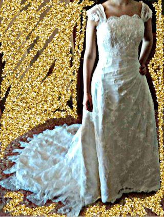 vestido de novia talla 40 de segunda mano en la provincia de ciudad