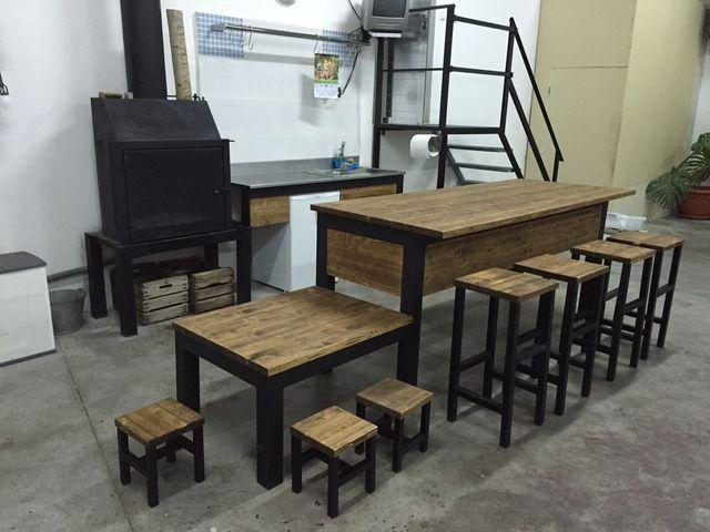Barra , mesa ,taburete , banco ,cocina chimenea de segunda ...