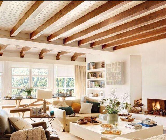 Vigas madera tratada techo colores rusticos de segunda mano por 23 en m laga en wallapop - Vigas de madera malaga ...