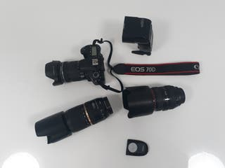 equipo fotográfico canon