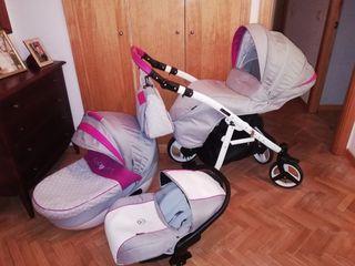 Carrio bebé tres piezas