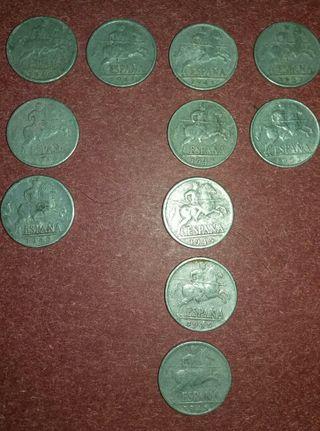 Lote monedas de 10 centimos
