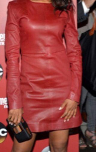 Vestido píel rojo