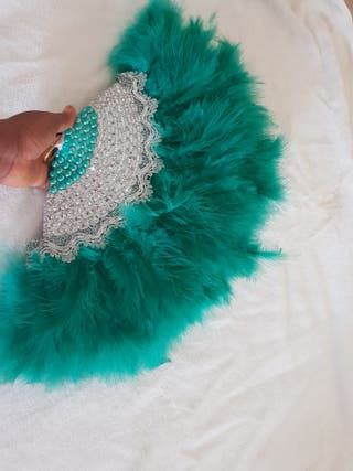 africa bridal, festival and party feather hand fan