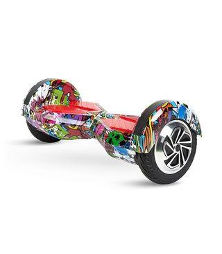 Hoverboard 8' color rojo diseño Hip Hop, Motor de