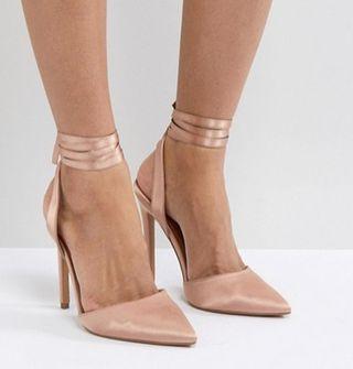 Zapatos rosas anudados T. 36/37/38
