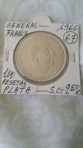 Moneda de 100 pesetas de Franco