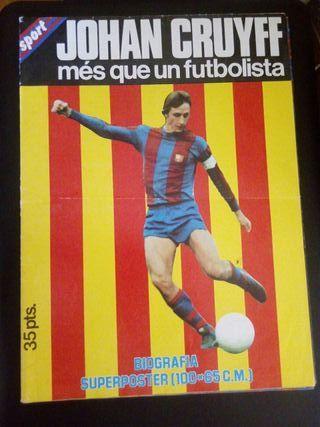 Póster Johan Cruyff Años 70 Revista Sport