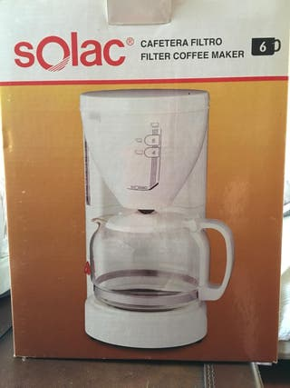 Cafetera electrica Solac 6 tazas