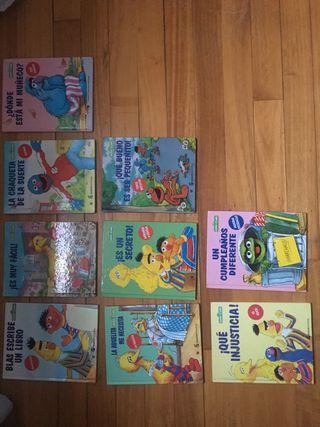 Colección libros de Barrio Sésamo