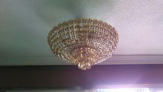 lampara techo cristal