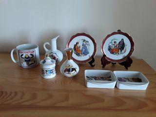 Porcelana Guillén. Lote 8 piezas